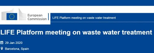 LIFE-DRY4GAS project participate on the LIFE Platform meeting on Waste-Water Treatment. Making Water Fit for LIFE